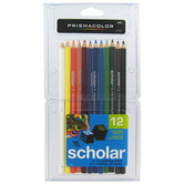 Prismacolor Scholar Colored Pencils - 12 Piece Set